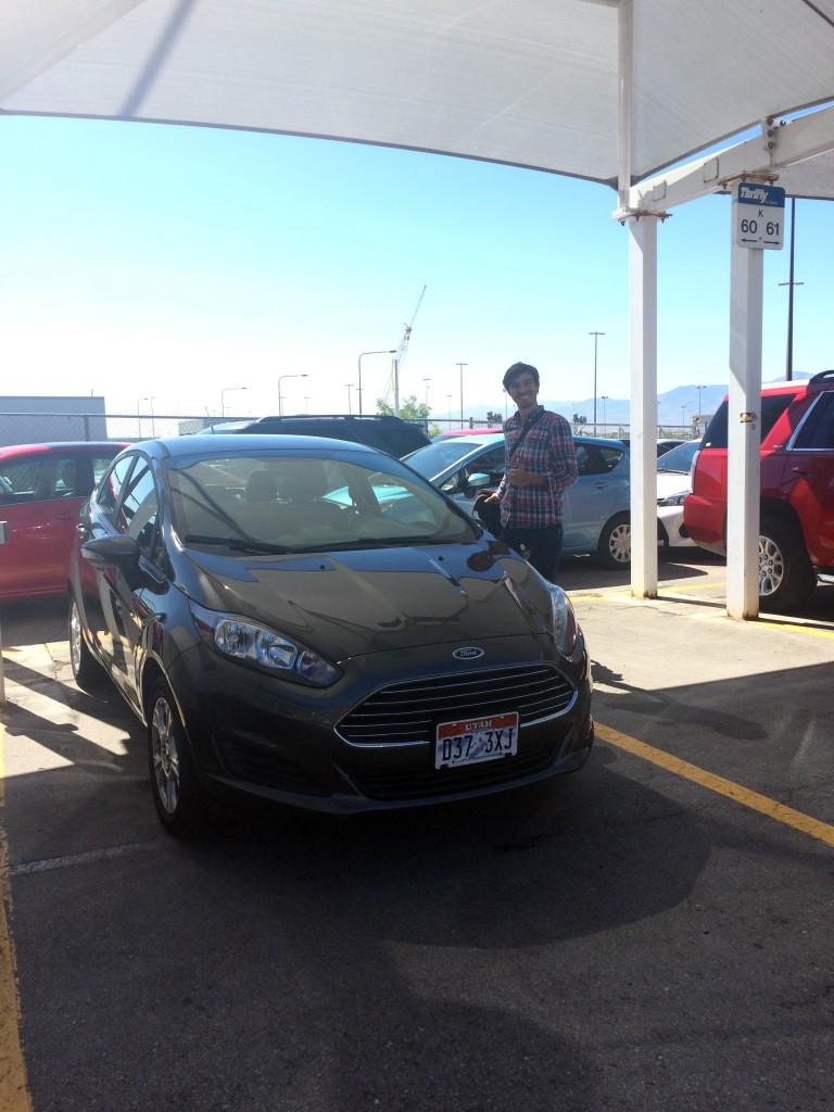 Unser Auto am Flughafen SLC