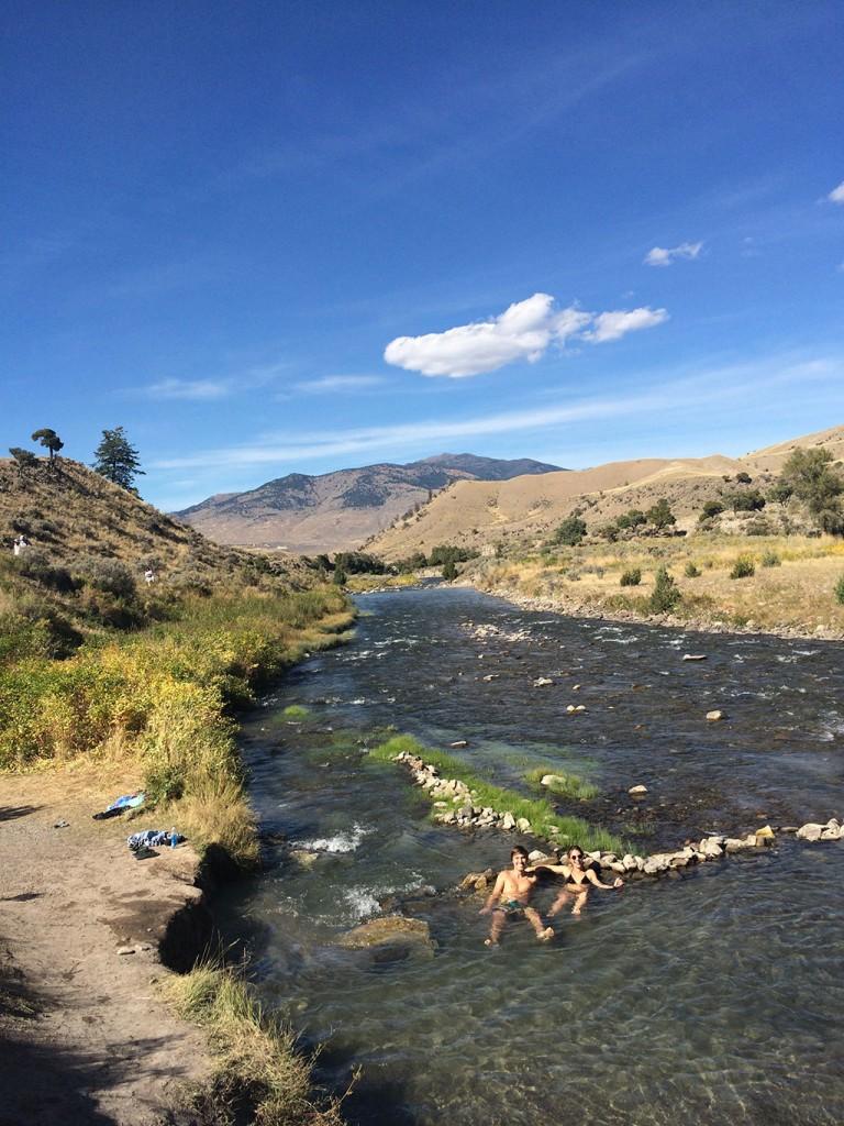 Baden im Boiling River