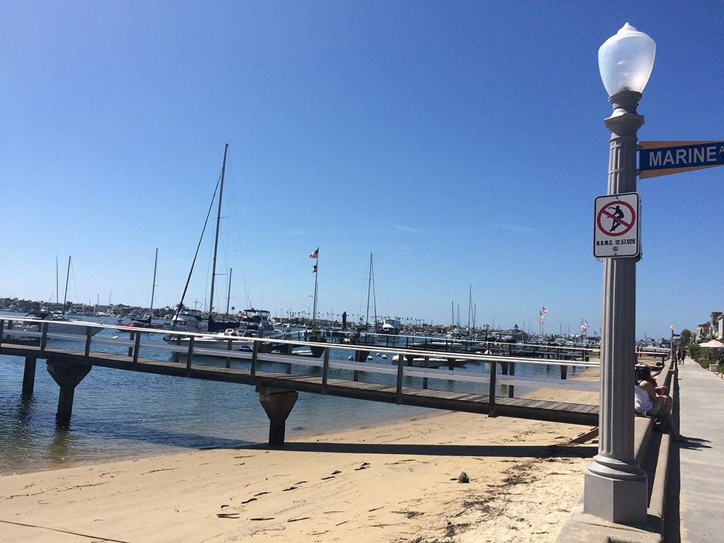 Ein Privatsteg bei Balboa Island