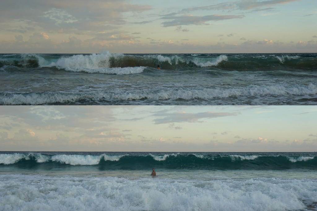 Flo spielt wieder in den Wellen