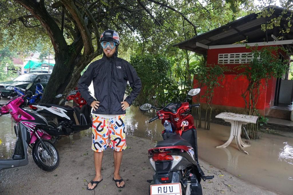 Mopedfahren im Regen braucht eine geeignete Ausrüstung