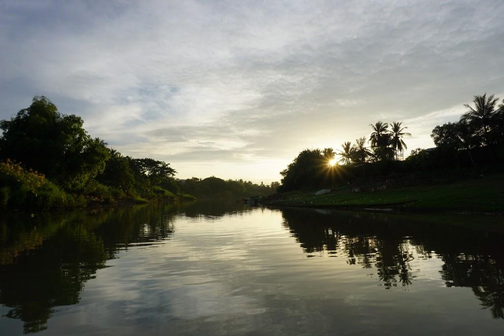 Sonnenuntergang - Die Fahrt war wirklich lange