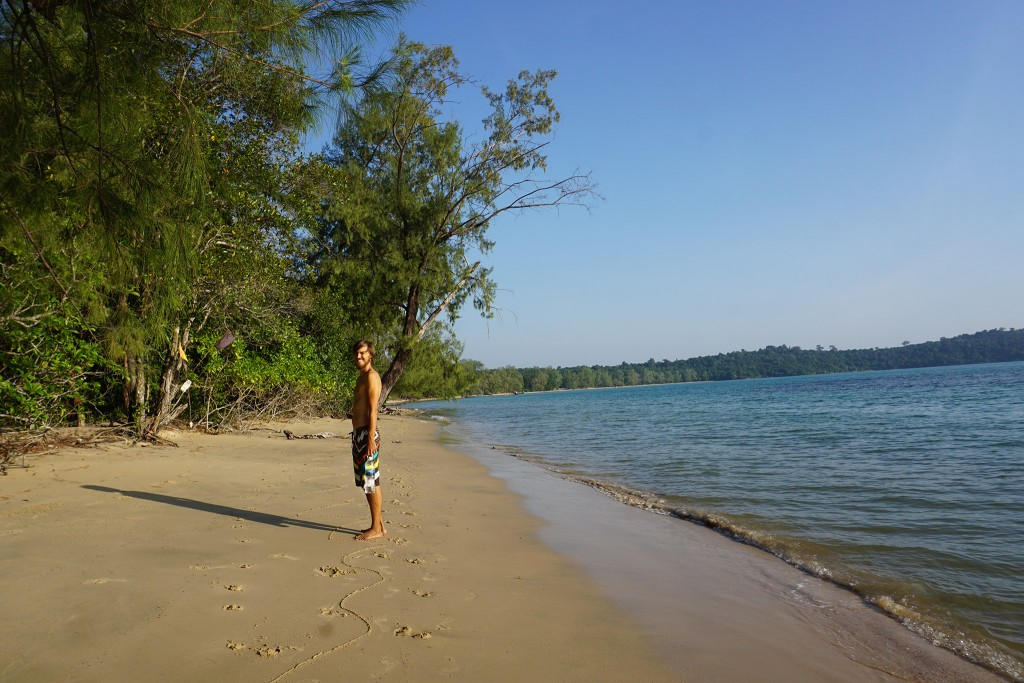 Noch ist der Strand nicht verschmutzt