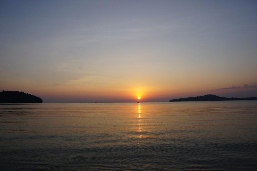 Ein kitschiger Sonnenuntergang