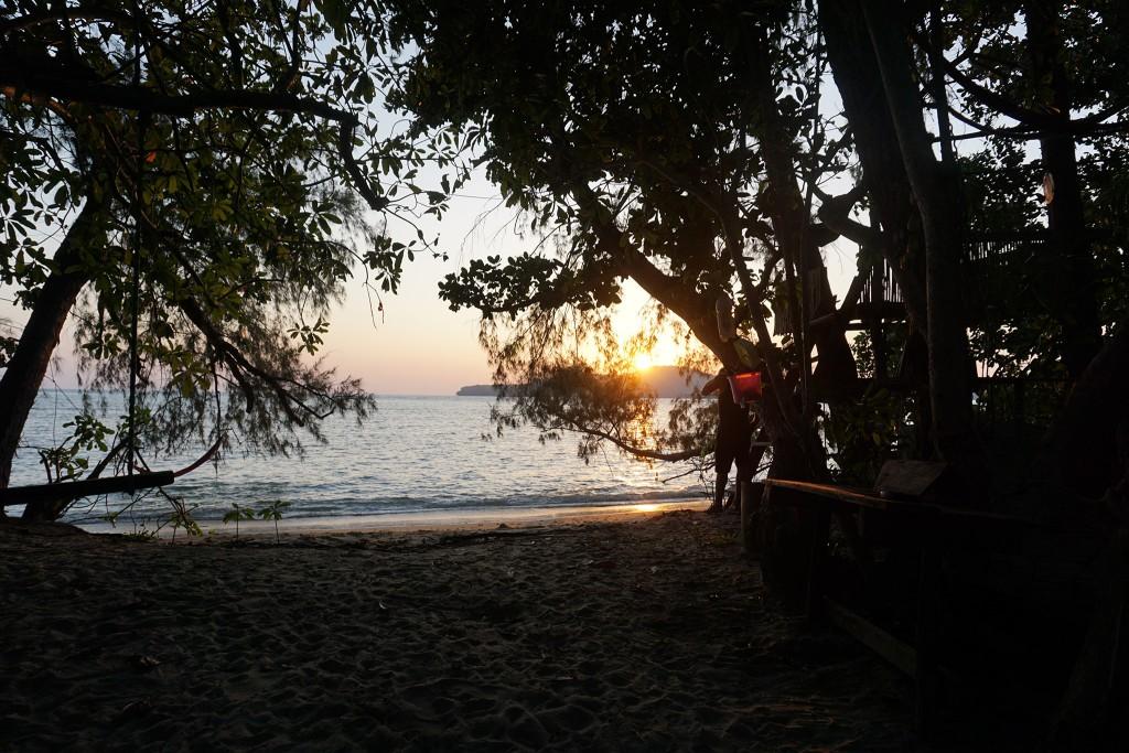 Rechtzeitig vor Sonnenuntergang zu Hause