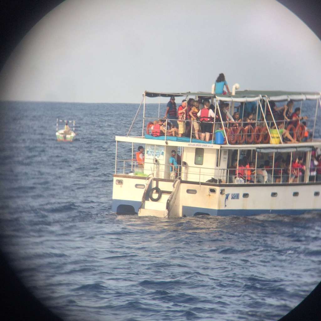 Auf diesem Boot waren Jakob, Marius und Roman.