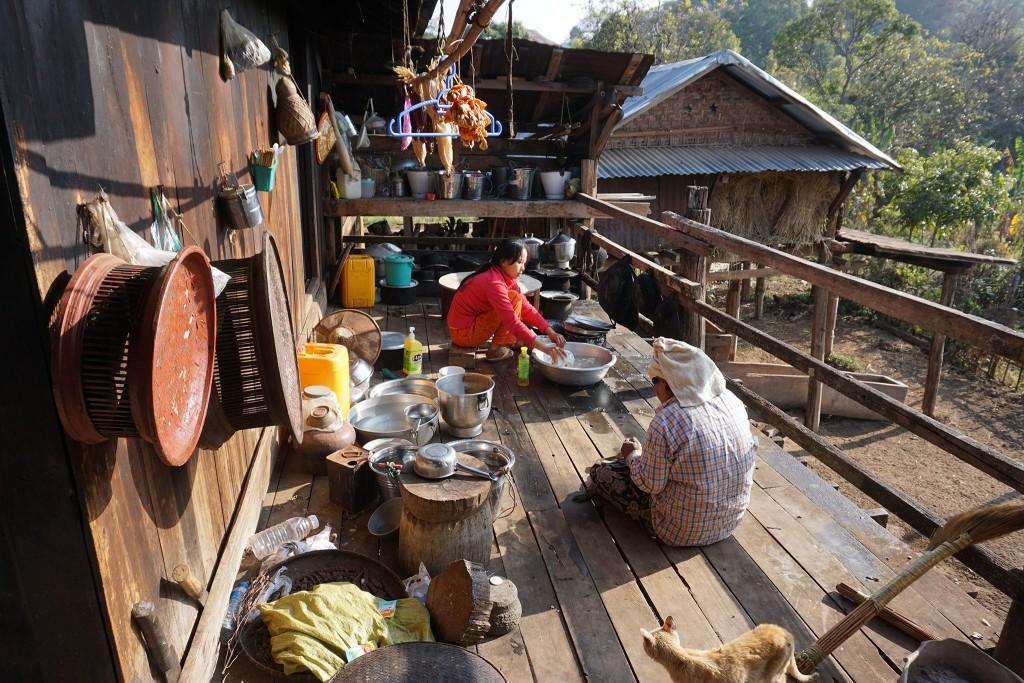 Die Küche unserer Unterkunft